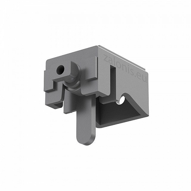LEVERLOCK CURTAIN RAIL BRACKET / GRAY / SMALL